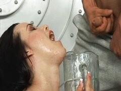 Amy, lotsa cups of cum