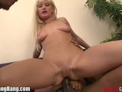 Anal Creampie and 3 Dark Cocks Gangbang