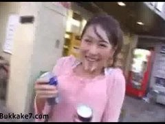 Japanese Angel Walks In Public Covered In Cum