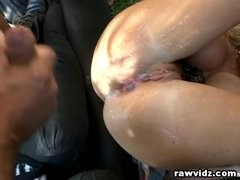 Naughty Golden-haired Doxy Hardcore Double Anal Gangb